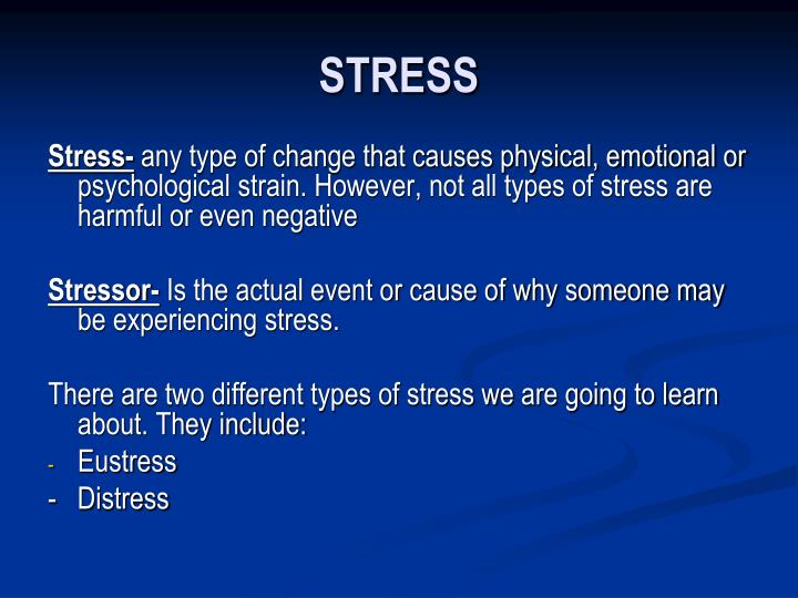 PPT - STRESS PowerPoint Presentation - ID1706595
