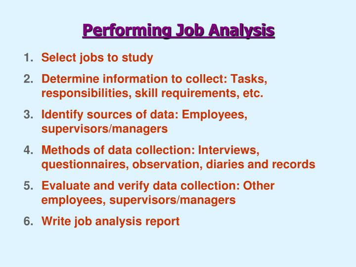 PPT - The Job Analysis Process PowerPoint Presentation - ID1715151 - job analysis report