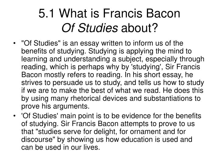 Bacon essay of studies / need someone to write my essay