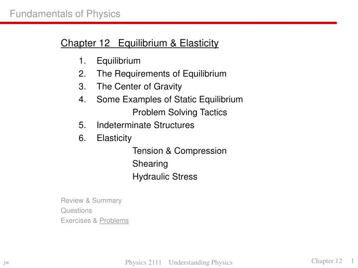 PPT - Fundamentals of Physics PowerPoint Presentation - ID1781058