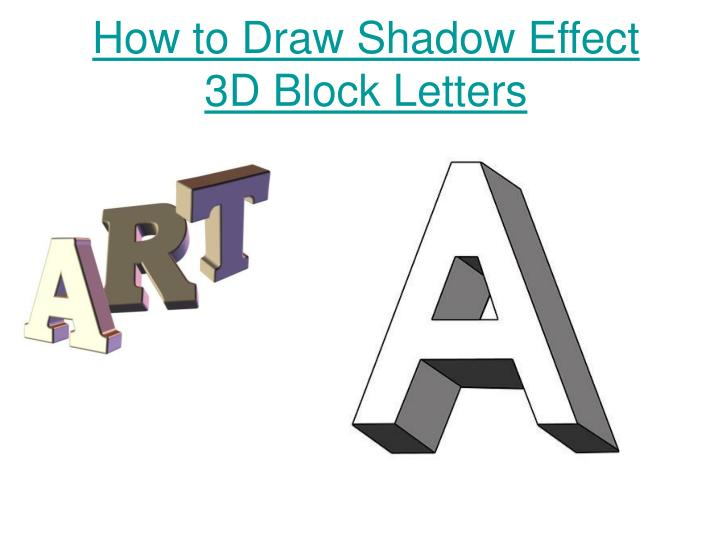 PPT - How to Draw Shadow Effect 3D Block Letters PowerPoint