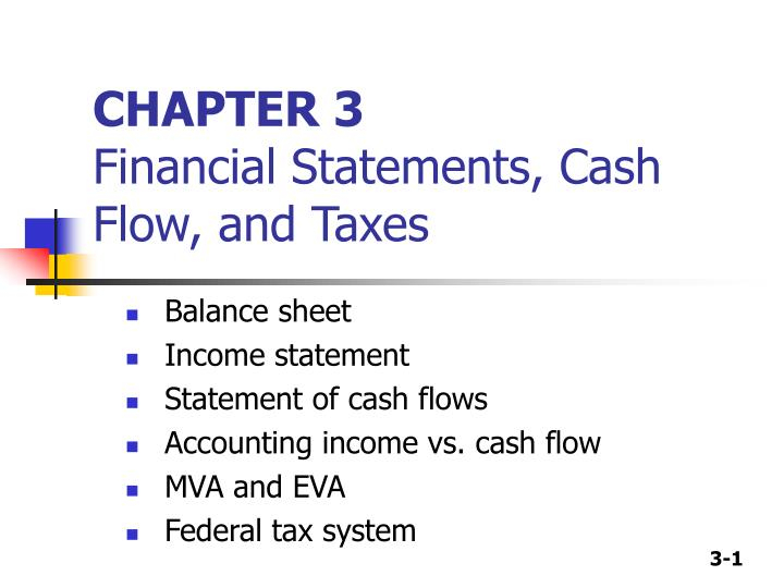 PPT - CHAPTER 3 Financial Statements, Cash Flow, and Taxes