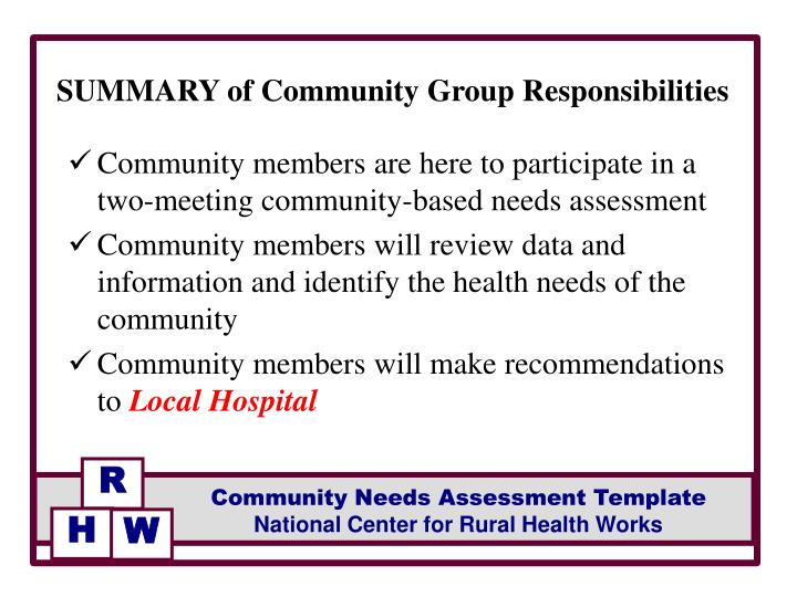 PPT - Facilitated by FACILITATOR Community Needs Assessment
