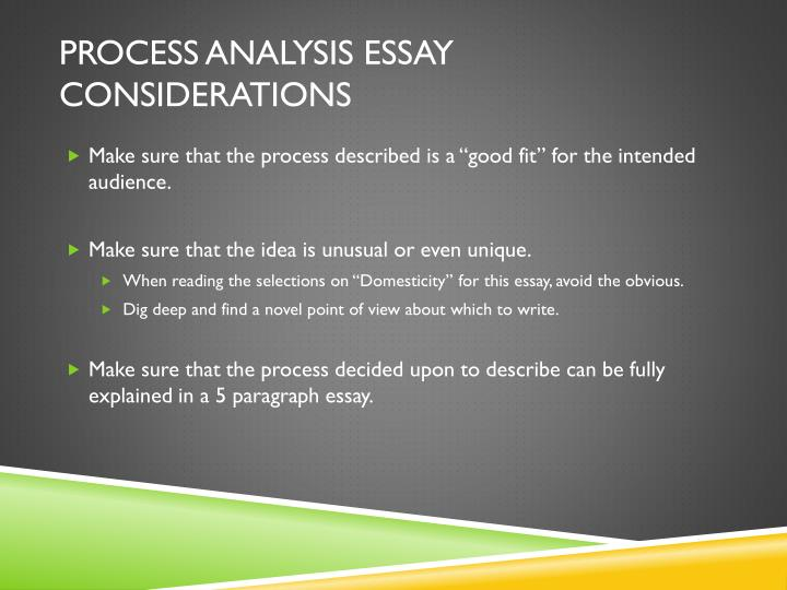 Process Analysis Essay Topics Topics, Sample Papers