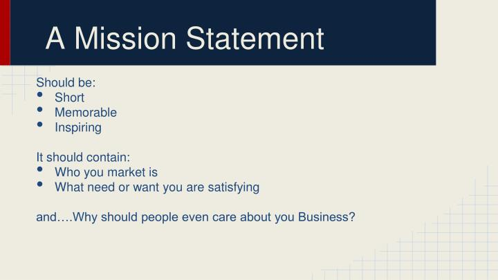 PPT - What is a Mission Statement? PowerPoint Presentation - ID1838301