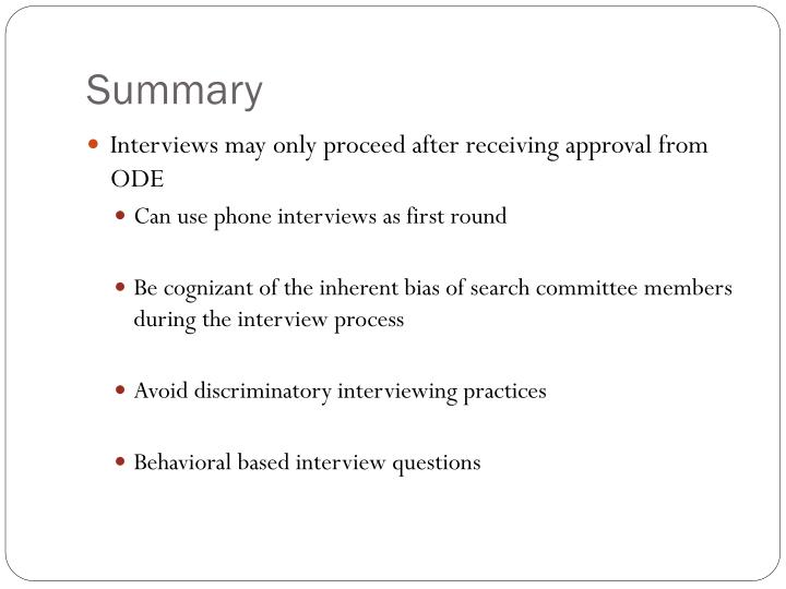 PPT - The Interview Process PowerPoint Presentation - ID1848403