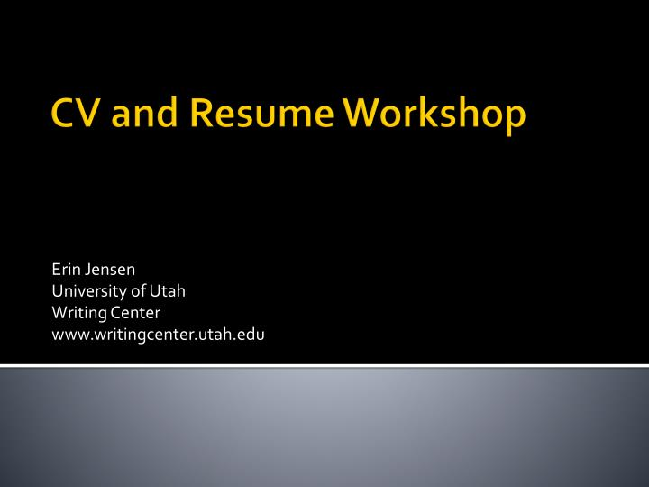 resume workshop uta