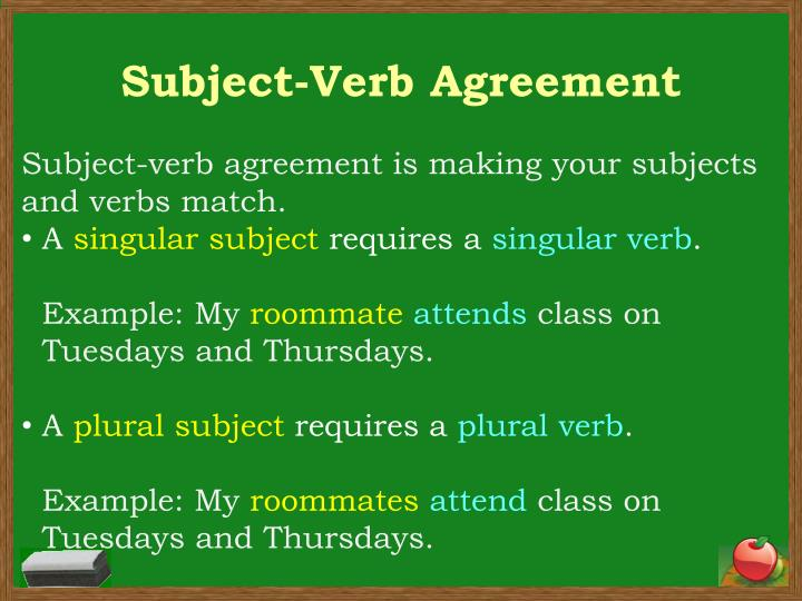 PPT - Subject-Verb Agreement PowerPoint Presentation - ID1863127