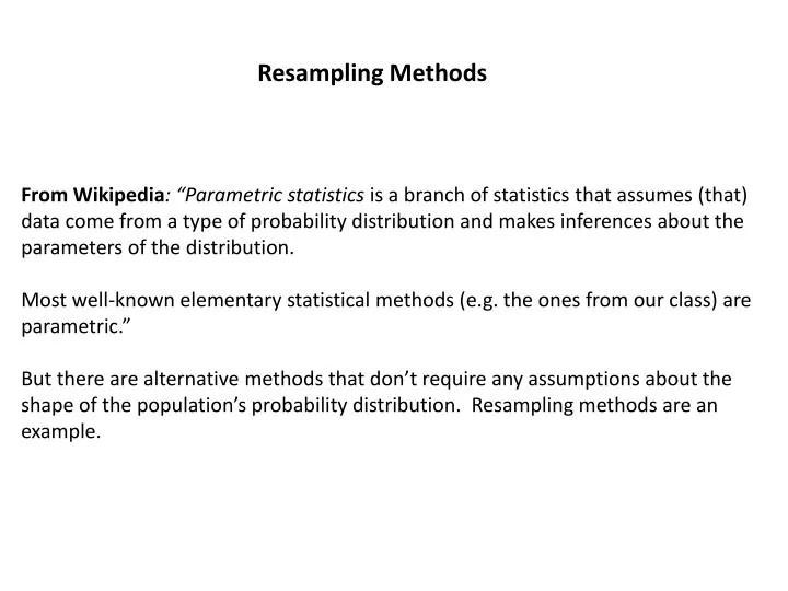 PPT - Resampling Methods PowerPoint Presentation - ID1874137