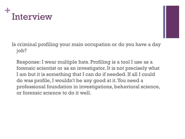 PPT - Criminal Profiling PowerPoint Presentation - ID1902952