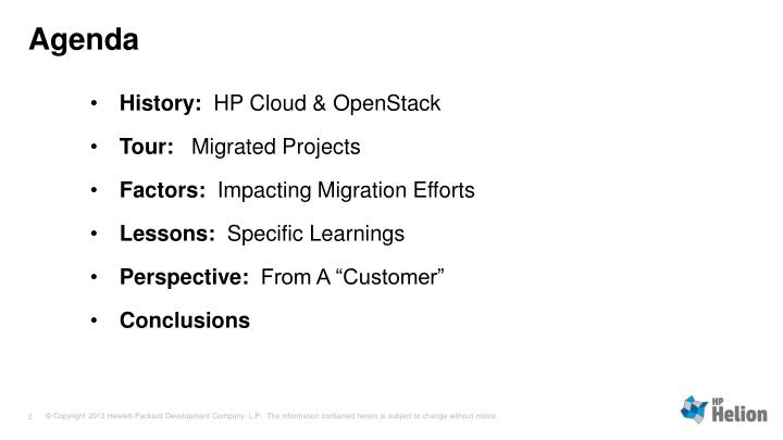 PPT - Migrating Workloads From AWS To HP OpenStack Public Cloud