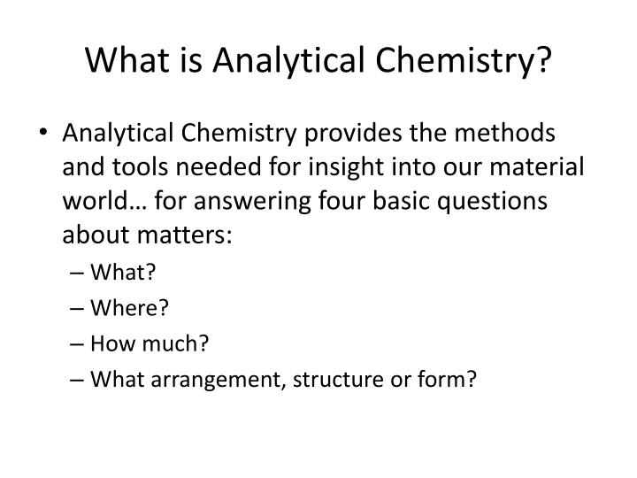 PPT - Analytical Chemistry PowerPoint Presentation - ID1926159