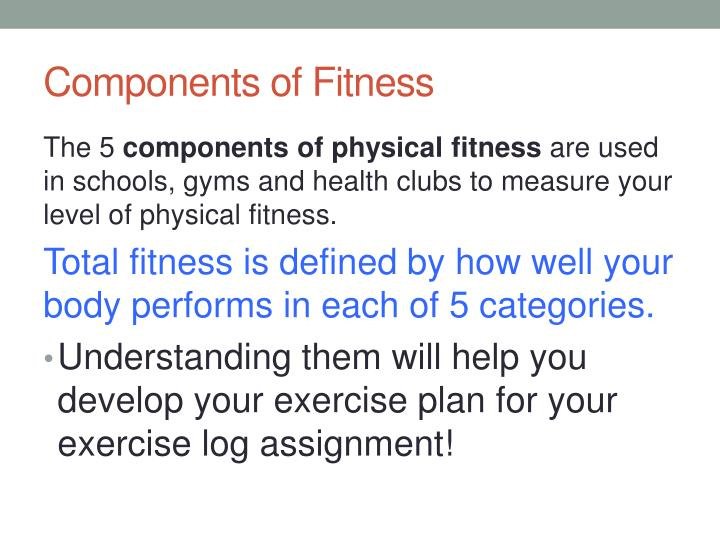 PPT - Components of Fitness PowerPoint Presentation - ID1926779 - components of fitness