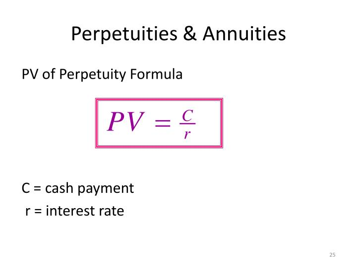PPT - Present value, annuity, perpetuity PowerPoint Presentation