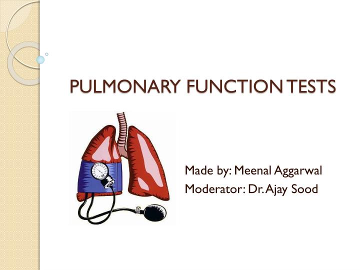 PPT - PULMONARY FUNCTION TESTS PowerPoint Presentation - ID1936215