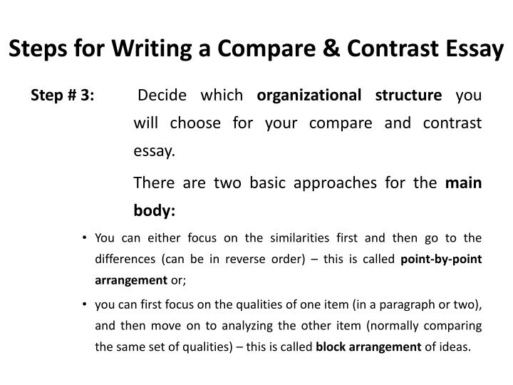 PPT - Compare and Contrast Essay PowerPoint Presentation - ID1965916