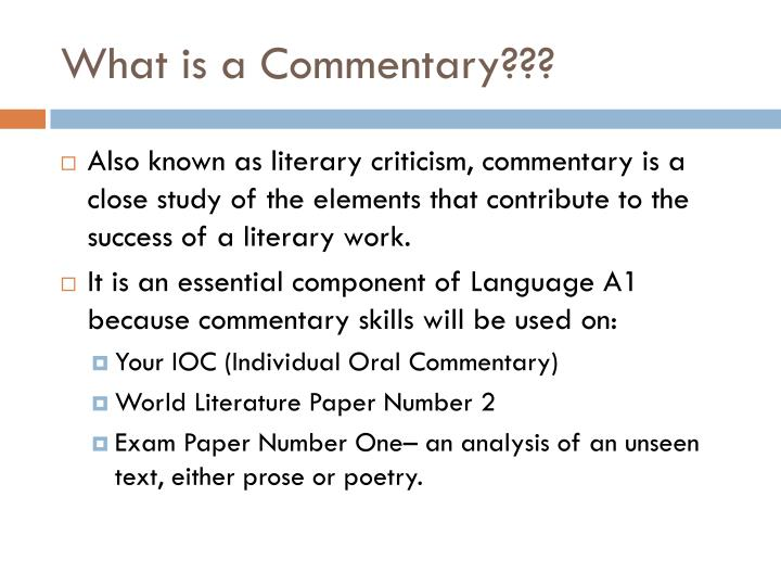 PPT - Writing an IB Commentary PowerPoint Presentation - ID1974261