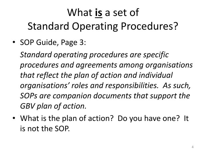 PPT - Introduction T he SOP Guide and The Development Process