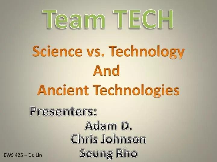 PPT - Team TECH PowerPoint Presentation - ID1999339