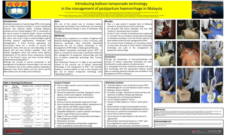 PPT - Introducing balloon tamponade technology in the management of