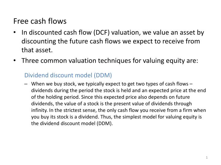 PPT - Free cash flows PowerPoint Presentation - ID2013826