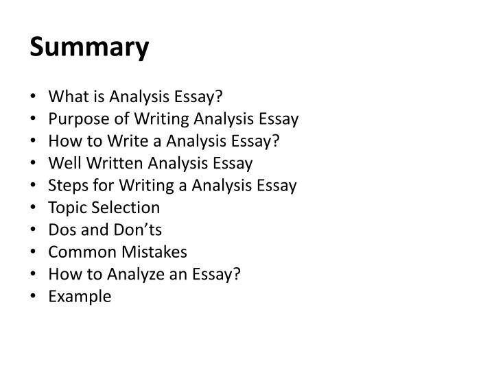 PPT - Analysis Essay PowerPoint Presentation - ID2052619