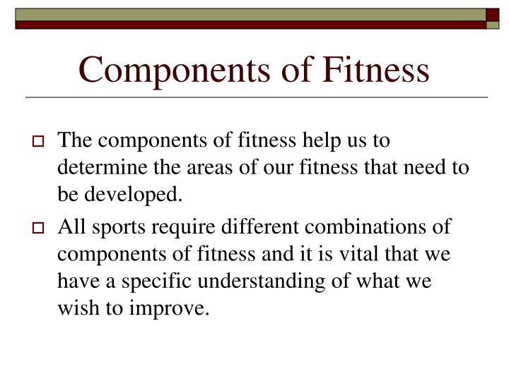 Components Of Fitness cvfreepro - components of fitness
