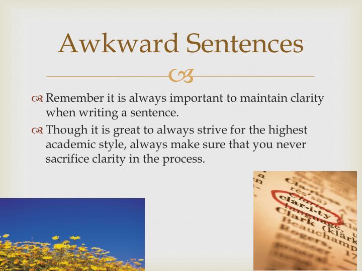 Awkward Sentences dnio