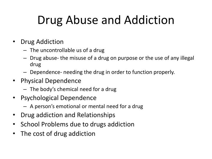 The problem of alcohol and drug abuse essay Term paper Academic