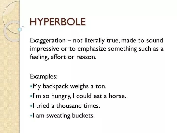 PPT - HYPERBOLE PowerPoint Presentation - ID2142590