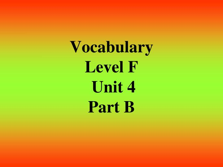 vocab level d answers - Apmayssconstruction