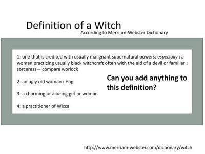 PPT - Witchcraft PowerPoint Presentation - ID:2183537