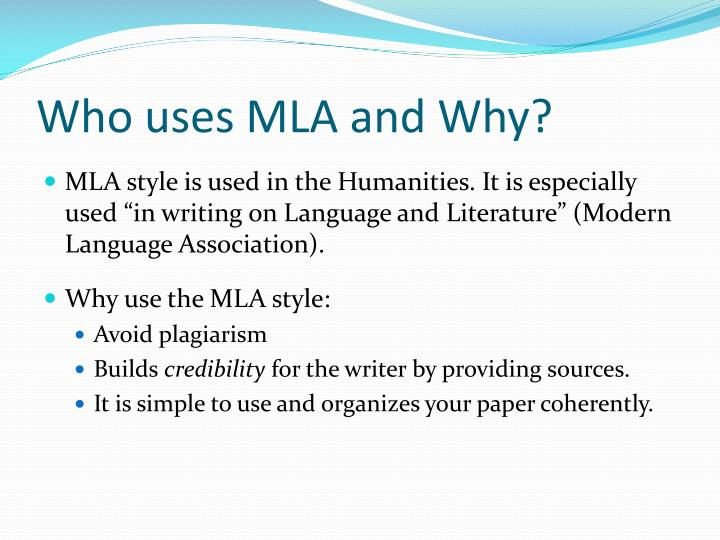 PPT - MLA PowerPoint Presentation - ID2183672