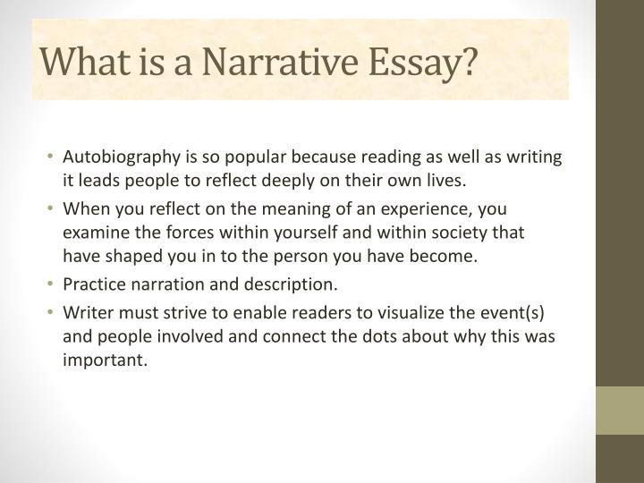 Narrative essay dictionary