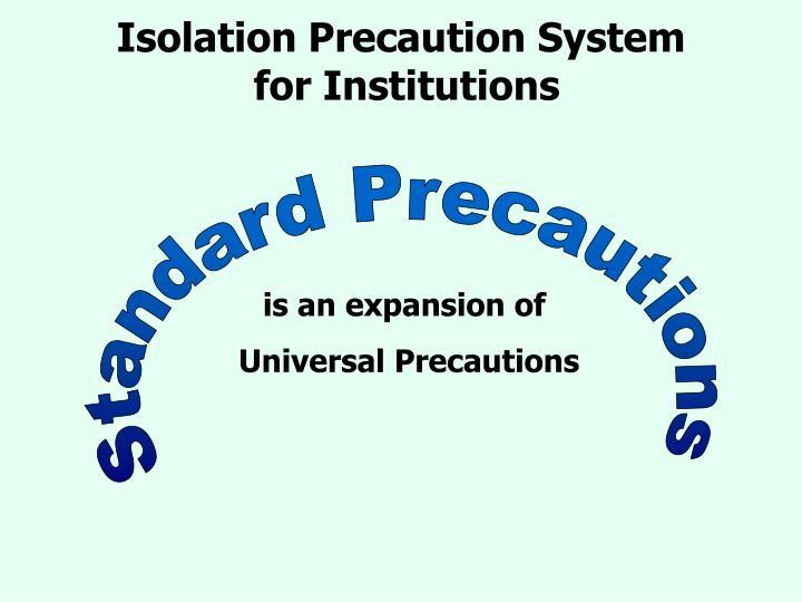 PPT - Isolation Precautions PowerPoint Presentation - ID2199202 - isolation precautions