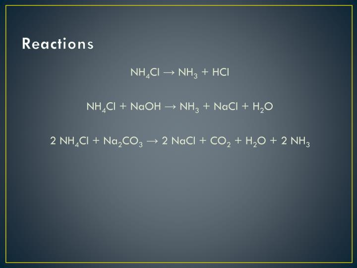 PPT - Ammonium Chloride ( NH 4 Cl ) PowerPoint Presentation - ID2276828