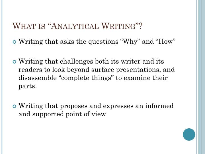 PPT - Analytical writing PowerPoint Presentation - ID2342251