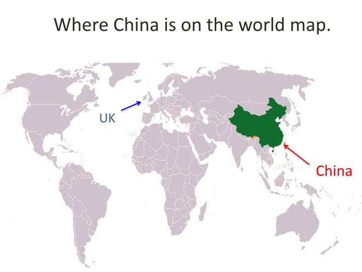 PPT - Where China is on the world map PowerPoint Presentation - ID