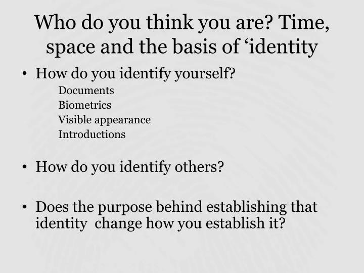 PPT - Theme 1 Identity and identification Establishing Early Modern