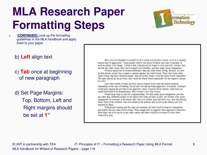 PPT - Formatting a Research Paper PowerPoint Presentation - ID2359897