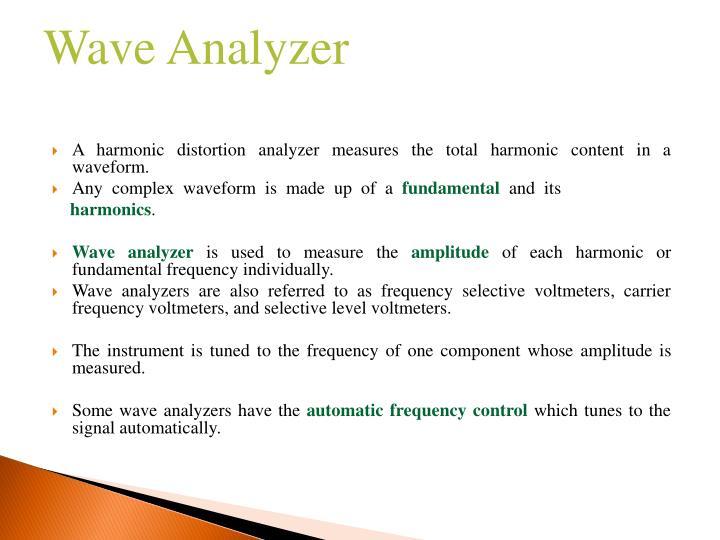 PPT - Harmonic Distortion Analyzer, Wave Analyzer and Function