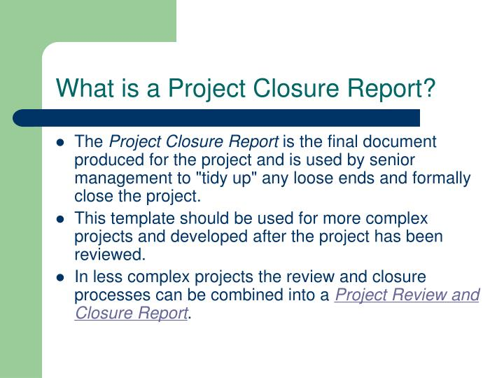 Project Closure Report Template Need Help For Project Management - project closure template