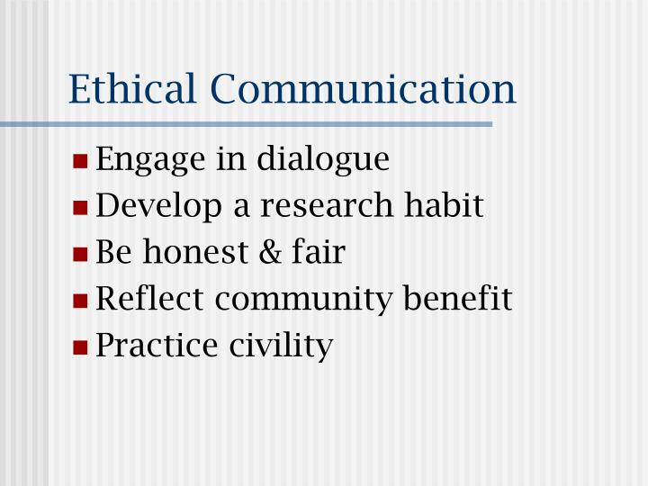 ethical communication - Romeolandinez
