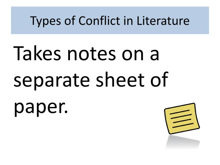 PPT - Types of Conflict in Literature PowerPoint Presentation - ID