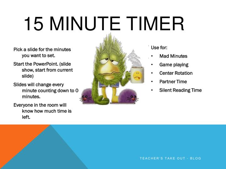 PPT - 15 minute Timer PowerPoint Presentation - ID2490987