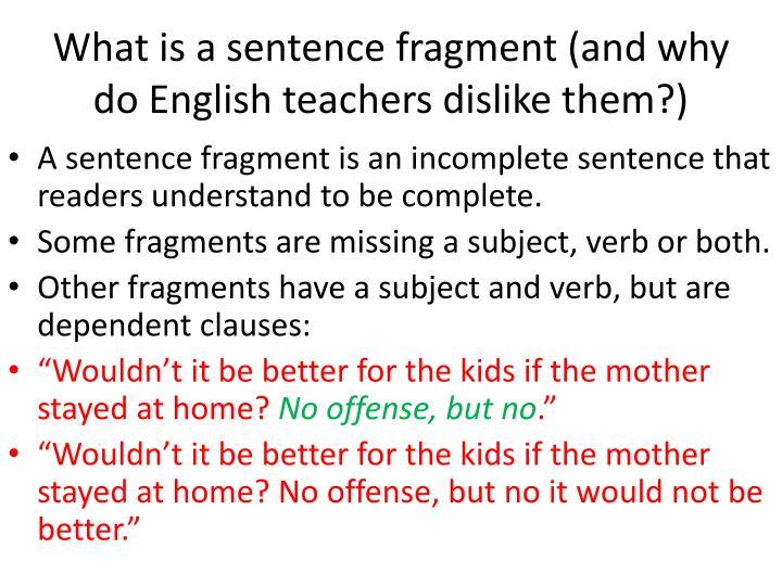 whats a sentence fragment - Towerssconstruction