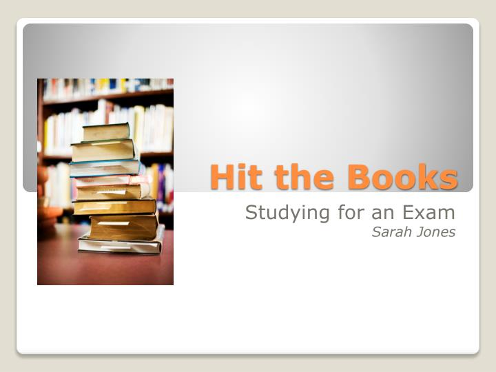 PPT - Hit the Books PowerPoint Presentation - ID2513289 - powerpoint books