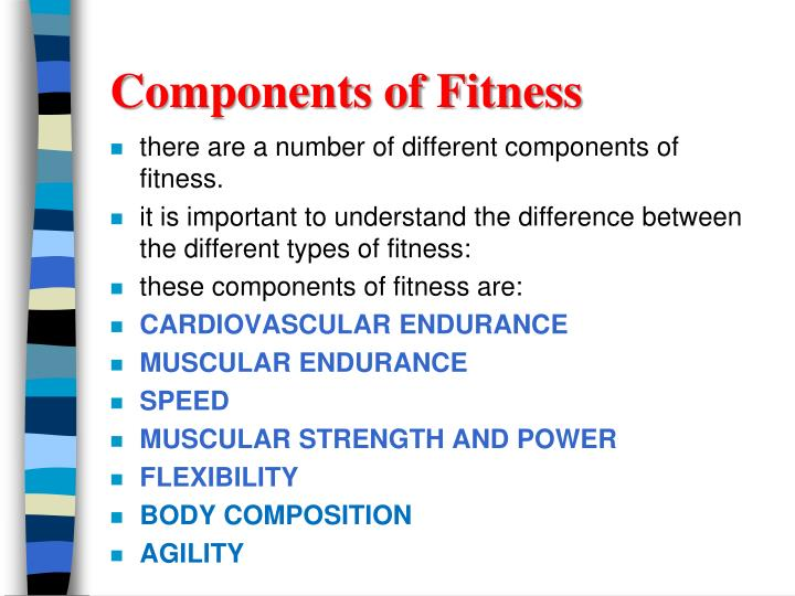 PPT - Components of Fitness PowerPoint Presentation - ID2522003
