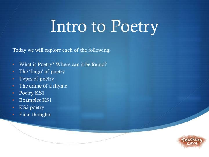 PPT - Intro to Poetry PowerPoint Presentation - ID2534978 - poetry powerpoint
