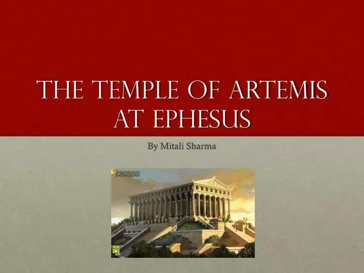 PPT - The temple of artemis at Ephesus PowerPoint Presentation - ID
